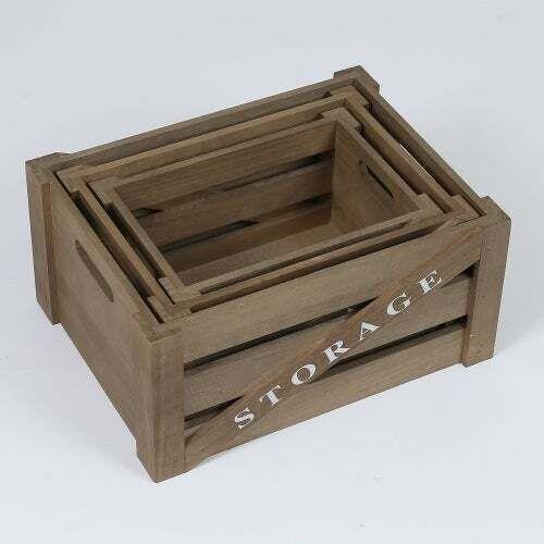 Set mit 3 Aufbewahrungskisten aus Holz Braun $ 66.99 #Korb #und #Kiste #aufbewah… – Korb und Kiste