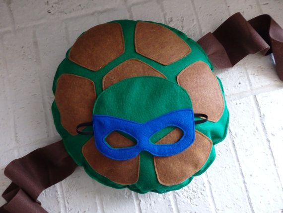 LARGE TMNT Teenage Mutant Ninja Turtle Shell and Mask in Blue