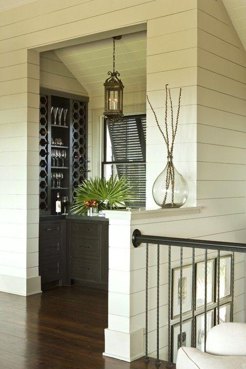 shiplap bar tropical wine cellar charleston brown contractors fine custom homes