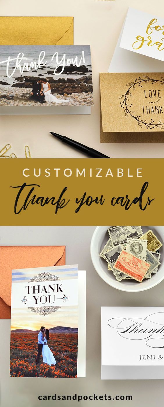 Wedding Thank You Cards Personalized and