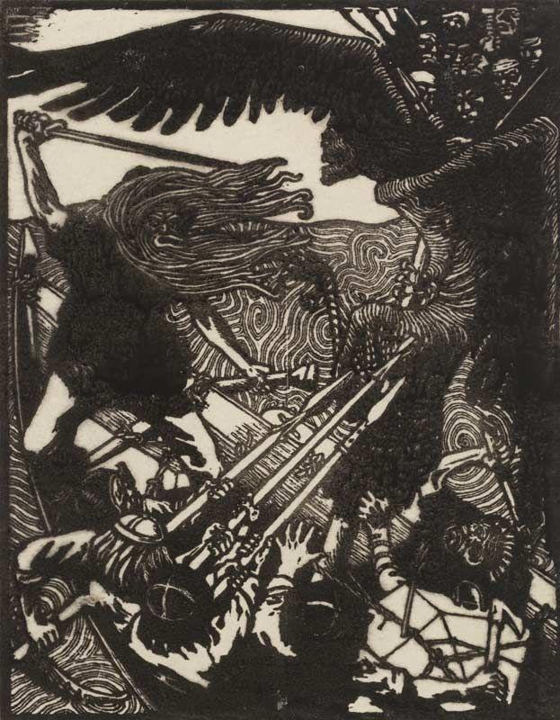Akseli Gallen-Kallela, woodcut