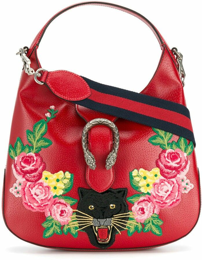 d08ba9b5 GUCCI style with flowers and Panther motif to the front!!! #fashion #gucci  #bags #style #shopstyle #affiliatelink