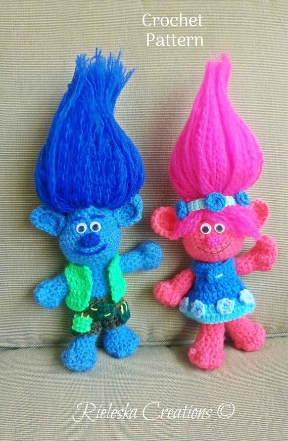 Dolls Trolls Poppy And Branch Crochet Pattern A Unique Product