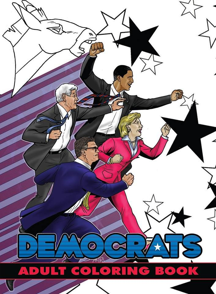Political Power: Democrats Adult Coloring Book. 96-pages of ...