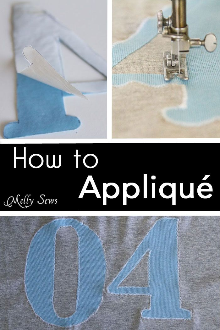 How to Appliqué - Sewing Glossary - Common Sewing Terms defined - Melly Sews