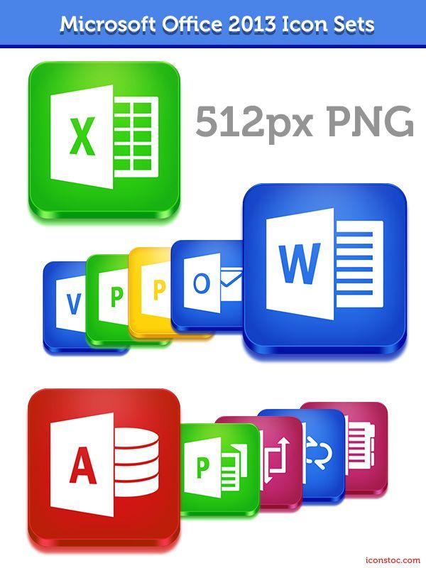 Microsoft Office 2013 Icon Sets