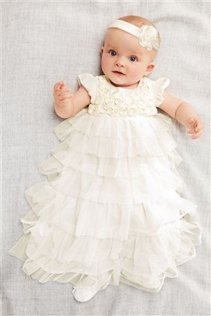 Then come those special moments when you can indulge in the most beautiful gowns you've ever seen (Buy Christening Dress (0-18mths) from the Next UK online shop) #mybigmoment