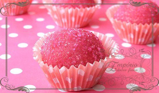 Docinho bicho-de-pé - Empório Doces Finos #aniversário #menina #girl #rosa #pink #candy #sugar