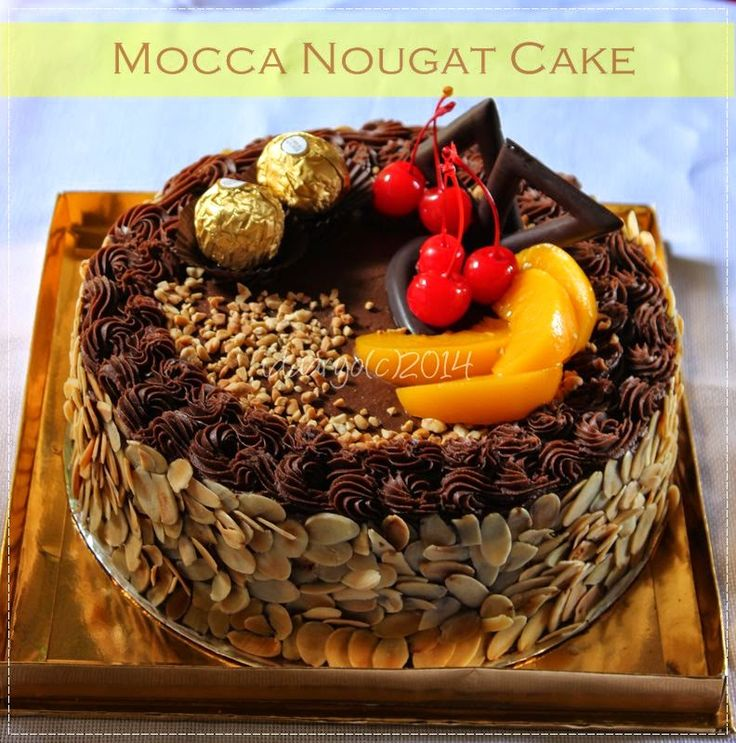 RaNu's Kitchen......my little kitchen: Mocca Nougat Cake