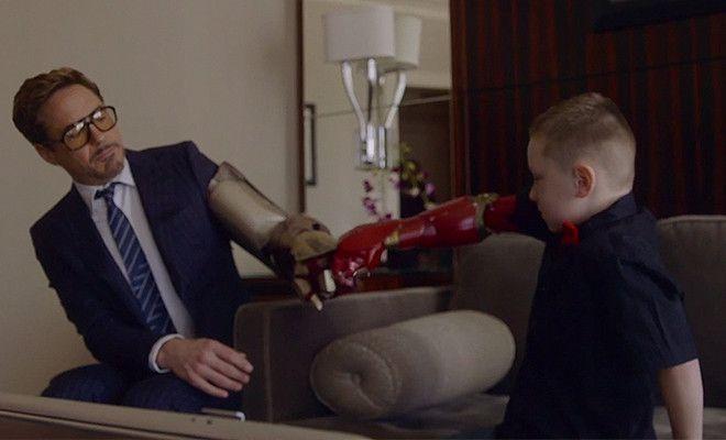Robert Downey Jr Gives Little Lad An Iron Man Bionic Arm