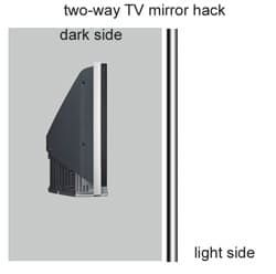How To: Make your own dual purpose TV-Mirror