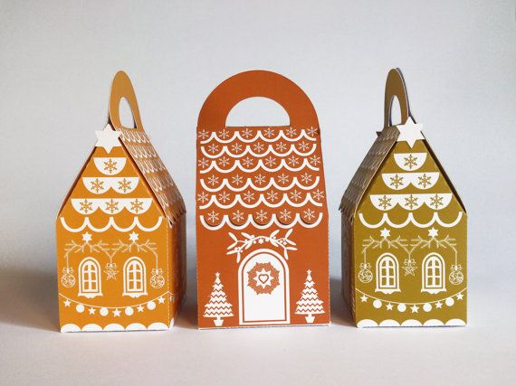 gingerbread house ready made christmas paper gift by RubiaCraft