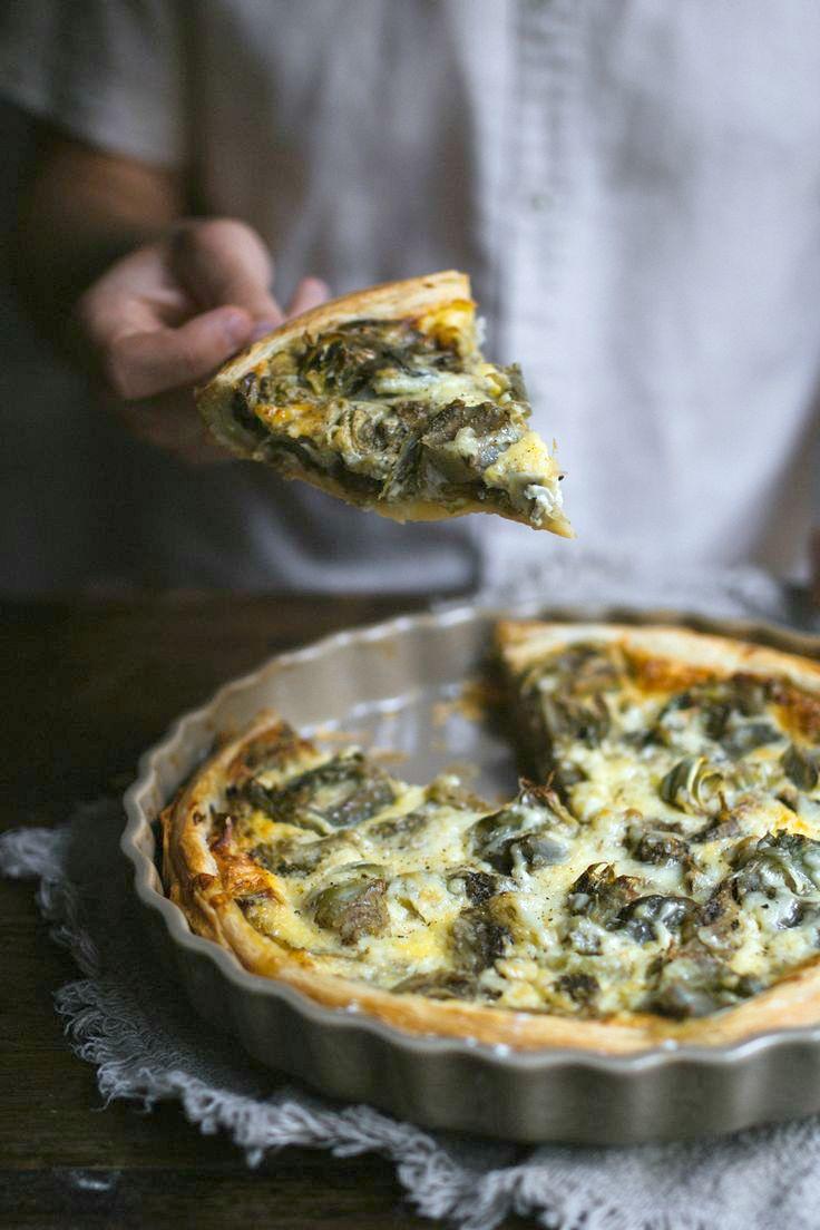 Blue apron quiche artichoke - Artichoke Roasted Aubergine Tart By Tanya Balyanitsa