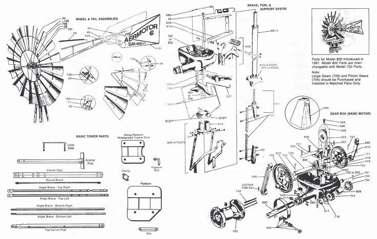 Aermotor Parts Diagram