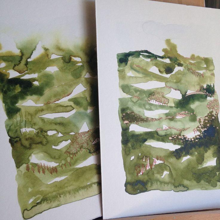 'Elements' series - work in progress by Ingrid Bowen
