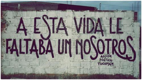 Preciosa frase de amor para sacar de este muro callejero y poner en una tarjeta