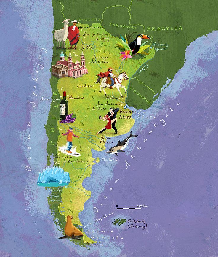 Argentina map by Kapitan Kamikaze - Adam Pękalski