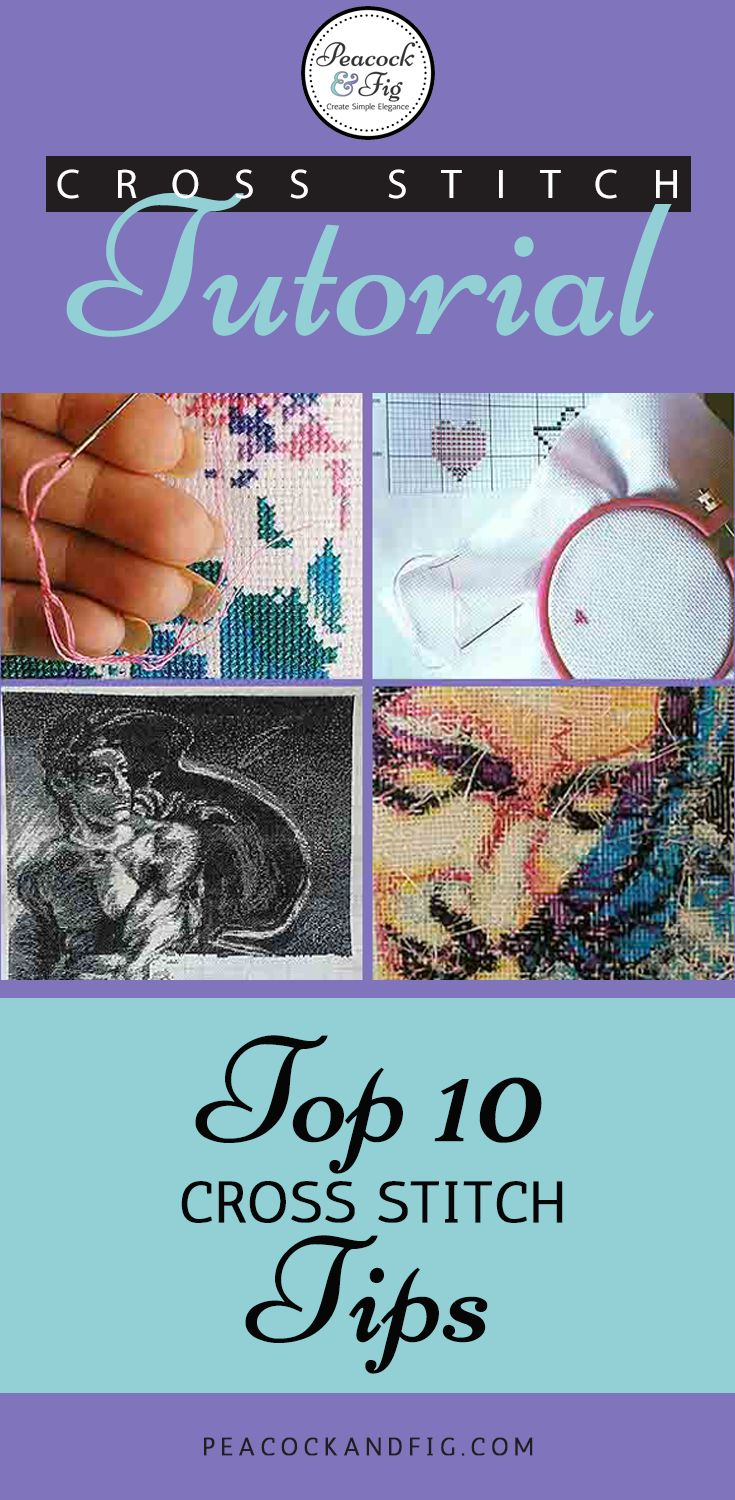 As seen on BuzzFeed! Cross stitch tutorial featuring the top 10 cross stitch tips! Most people find #7 to be invaluable!