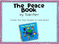 Students create their own Peace Books or could create a class peace book close to Remembrance Day. I love Todd Parr!