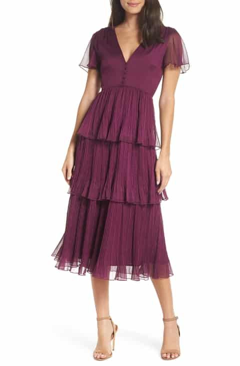 21f5258e7050 Chelsea28 Tiered Skirt Midi Dress Reviews in 2019 | Women Clothing ...