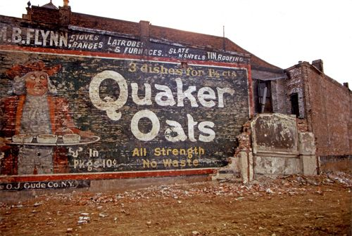 Quaker Oats ghost sign in Rhode Island