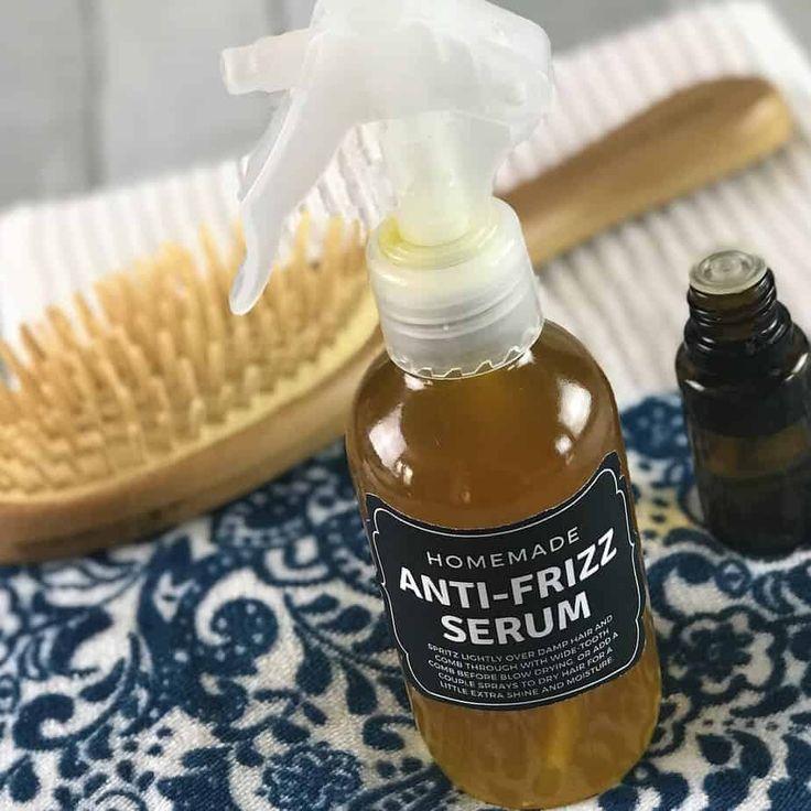 Homemade Anti-Frizz Serum for Soft, Shiny Hair