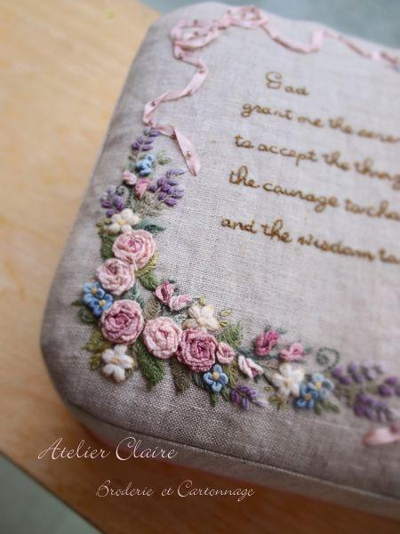 刺繡*カルトナージュ作品 : Claire Diary