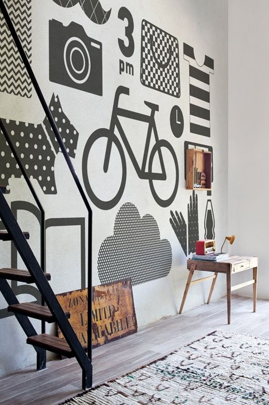wall and deco wallpaper - you could make images like this in vinyl with uppercase living - to design and order go to erint78.uppercaseliving.net - #uppercaseliving