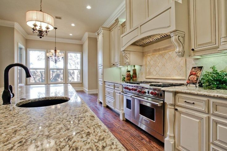 Kitchen With Santa Cecilia Granite