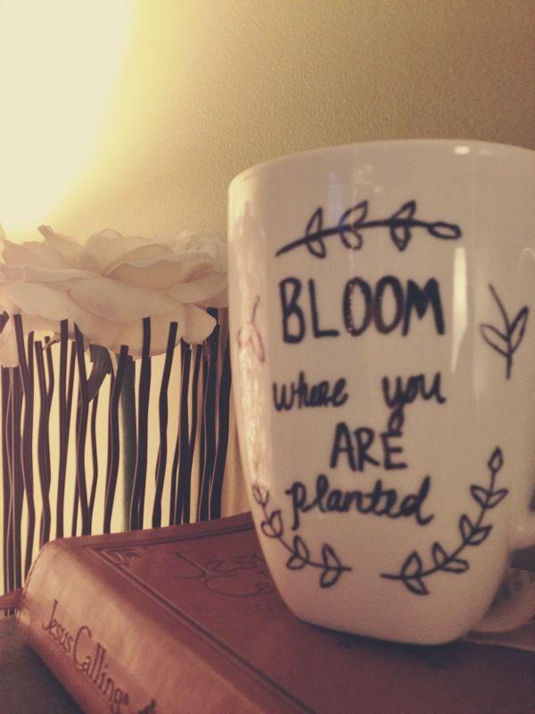 Mug art with a sharpie!