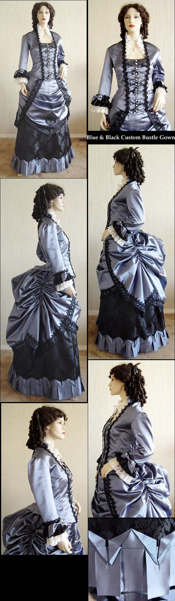 Hall Christine by MADE CUSTOM Costume Gown Bustle 1880s Victorian