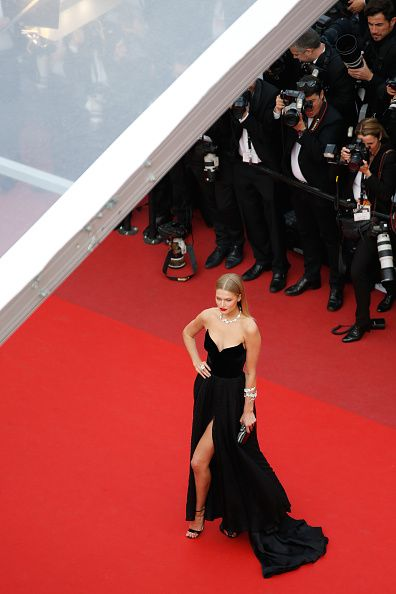 Toni Garrn wearing Ulyana Sergeenko Couture