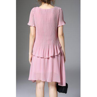 Irregular Faux Twinset Dress #CLICK! #clothing, #shoes, #jewelry, #women, #men, #hats, #watches
