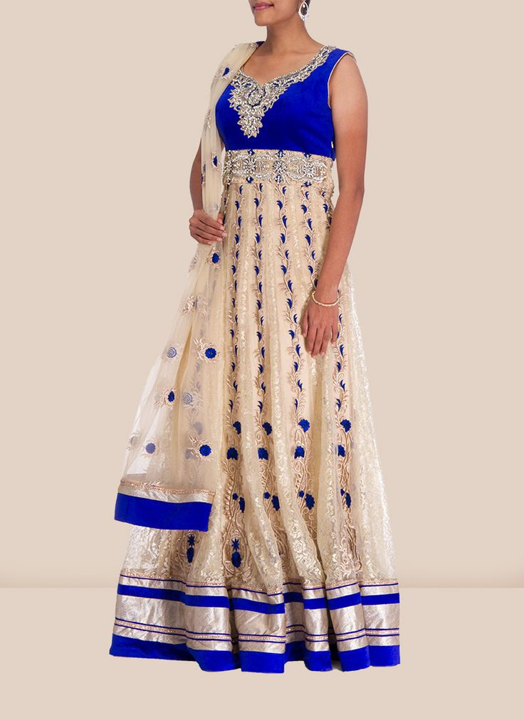 Dainty Plus Size Net Floor Length Anarkali Suit