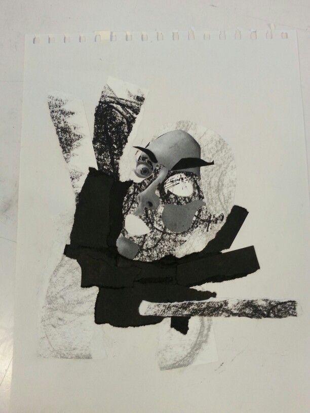 Self portrait, collage, Tina Nielsen