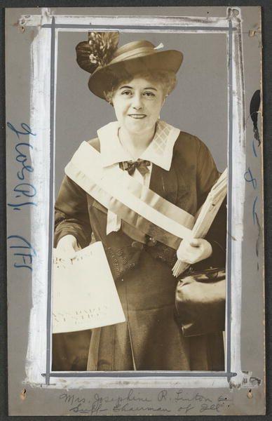 Mrs. Josephine R. Linton, Suffrage Chairman of Illinois (1916)