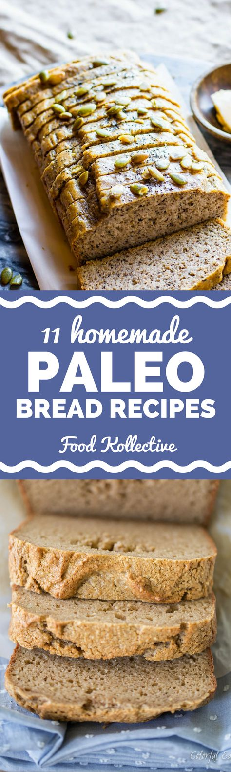 I'm always looking for new homemade Paleo bread recipes and these look super good! There are recipes for Paleo sandwich bread, Paleo french bread, and more. Ingredients include almond flour, coconut flour, banana, zucchini, pumpkin, etc. So much better than store bought bread! Collected on FoodKollective.com