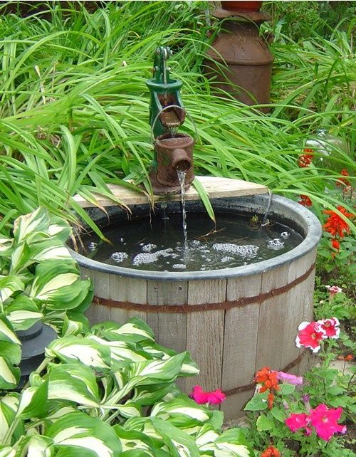 Rustic outdoor fountain