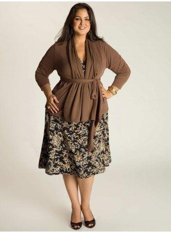 Phoebe Plus Size Cardigan in Mocha 15