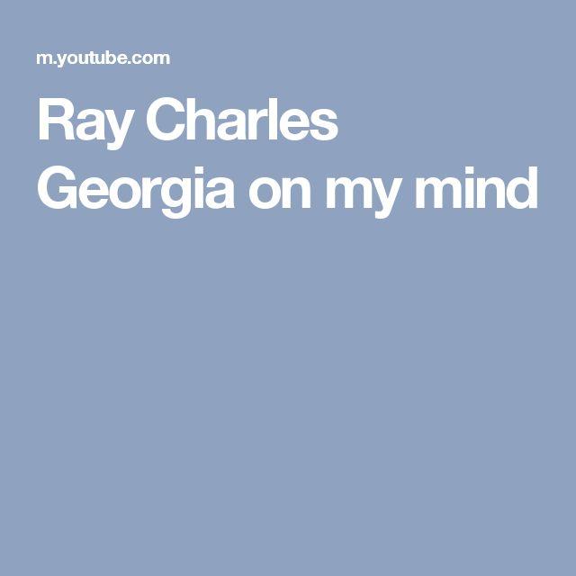 Ray Charles  Georgia on my mind