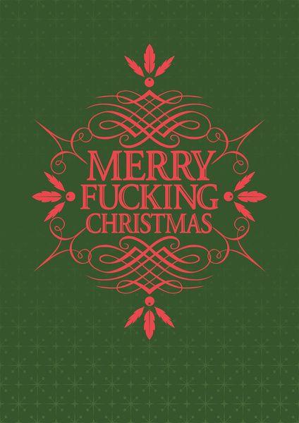 Merry Effin Christmas Art Print by Bubblegun | Society6