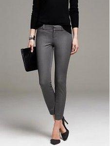 Pantalones de vestir grises 8