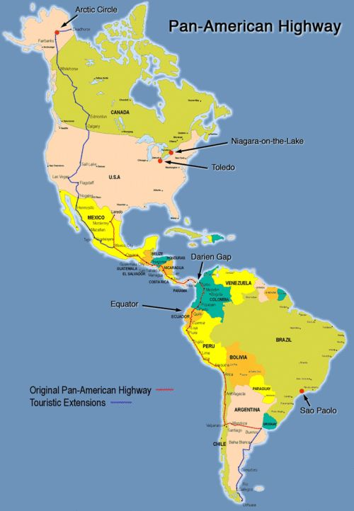 Pan-American Highway. That would be amazing...