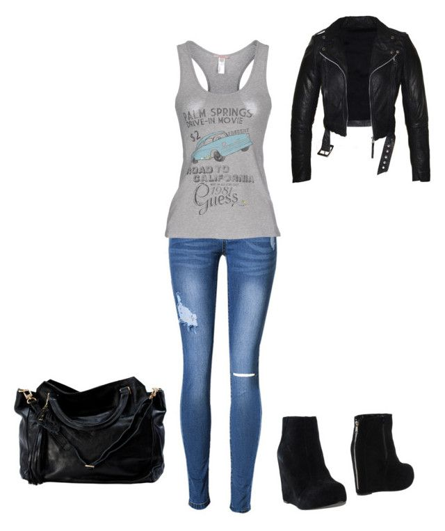 """Untitled #44"" by lestybunny on Polyvore featuring Jeffrey Campbell and GUESS"