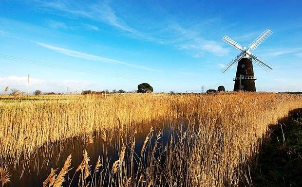 Norfolk: the Broads are one of England's diverse landscapes.