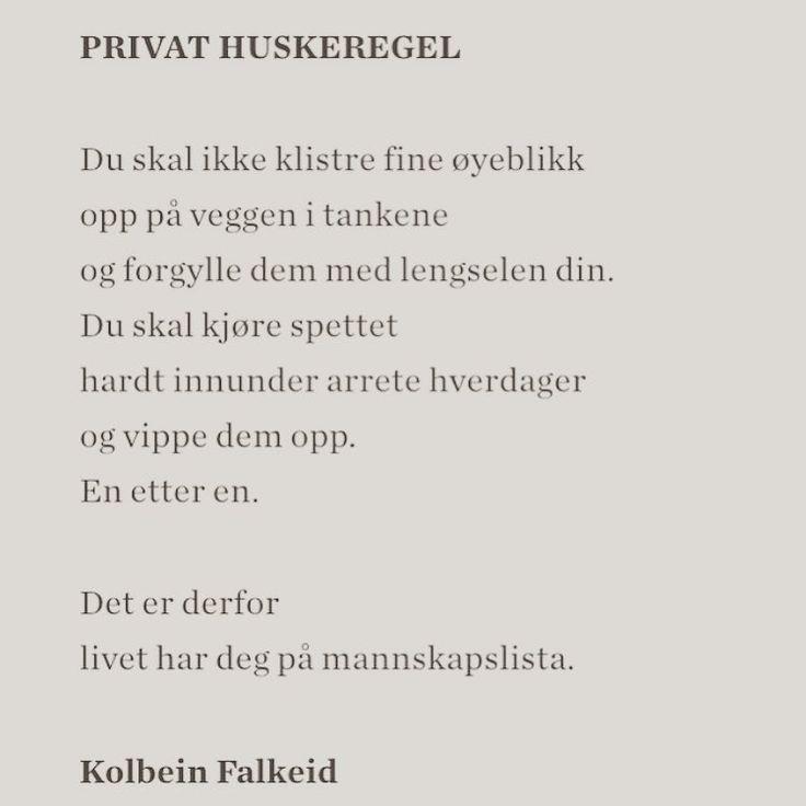 Fra diktsamlingen Vagabondering (1979). #kolbeinfalkeid #dikt #lyrikk #poesi #renpoesi