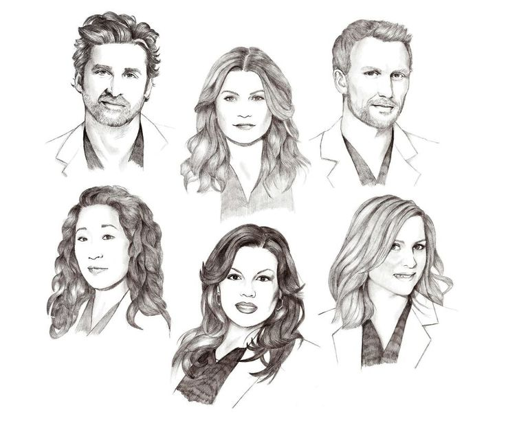 Drawing Lines Grey S Anatomy : Derek shepherd meredith grey owen hunt cristina yang
