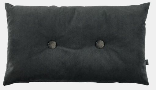 Pillow in velour dark grey for DIY projects