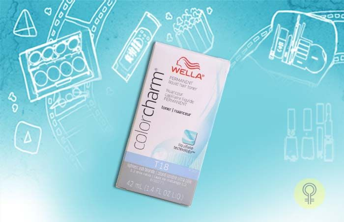 White Hair Toner - Wella Colour Charm T18 White Lady 1.4 oz