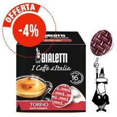 16 CAPSULE CAFFÉ IN ALLUMINIO BIALETTI MOKESPRESSO TORINO GUSTO ELEGANTE